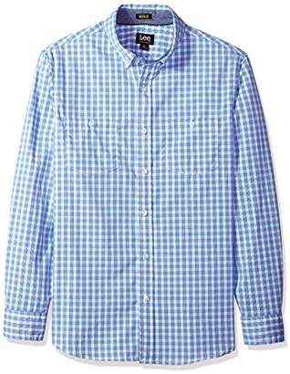 Lee Men's Long Sleeve Striped Woven