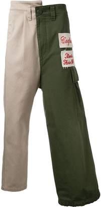 Miharayasuhiro combined cargo pants