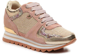 GIOSEPPO Mixed Material Wedge Sneaker - Women's