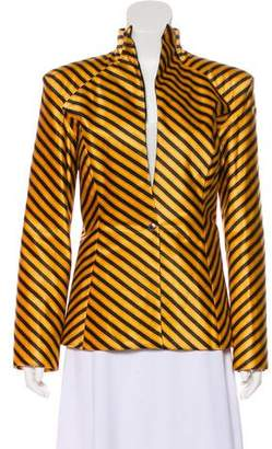 Leroy Veronique Structured Striped Jacket