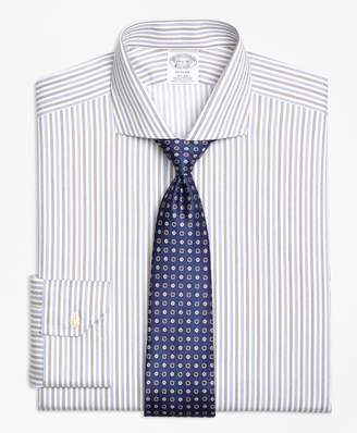 Brooks Brothers Regent Fitted Dress Shirt, Non-Iron Alternating Triple Stripe