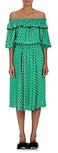 Philosophy di Lorenzo Serafini Women's Heart-Print Cady Midi-Dress-Green
