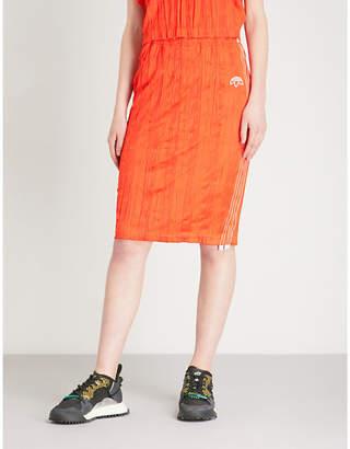 Alexander Wang Adidas X Logo-print satin midi skirt