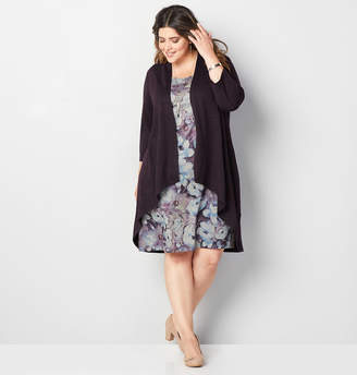 Avenue Floral Spacedye Jacket Dress
