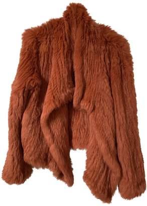 Meteo Orange Rabbit Coat for Women