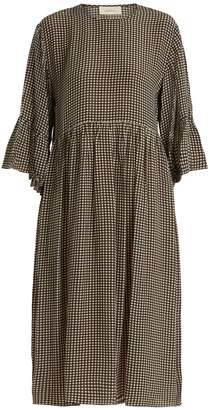 The Great The Sweetie gingham silk dress