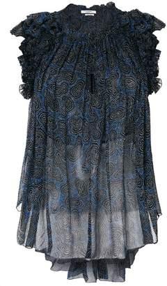 Etoile Isabel Marant ruffled sheer blouse
