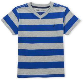 Nautica Boys 4-7) V-Neck Stripe Tee
