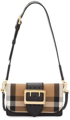 Burberry Bridle Small House Check Belt Shoulder Crossbody Bag, Black