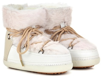 Inuikii Rabbit Low fur-lined leather boots