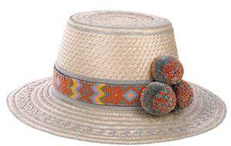 Yosuzi Embellished Straw Hat w/ Tags