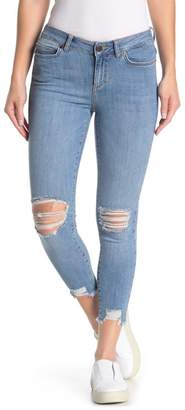 Noisy May Lucy Ripped Knee Distressed Skinny Jeans