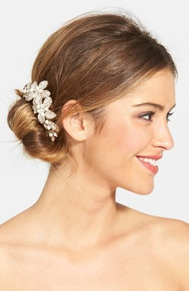 Wedding Belles New York Bead & Crystal Head Comb $165 thestylecure.com