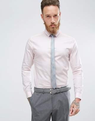 Asos Skinny Shirt In Pink