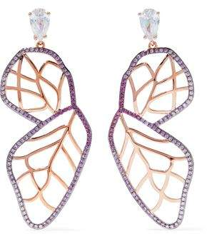 Noir Rose Gold-Tone Crystal Earrings