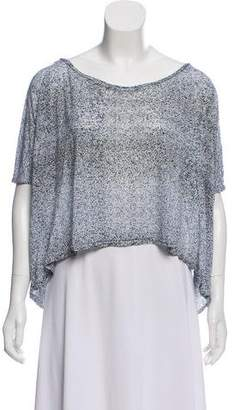 Acne Studios Patterned Dolman Sleeve Top