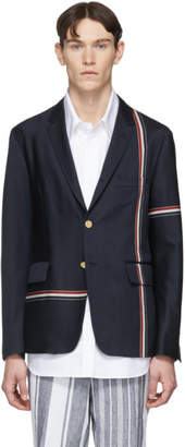 Thom Browne Navy Unconstructed Classic Blazer