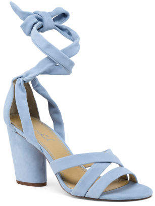 082dae5d3be Blue Strappy Heels - ShopStyle