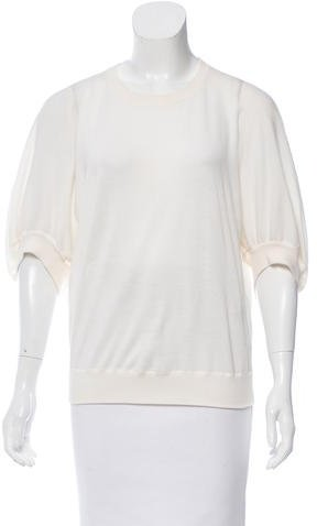 Givenchy Givenchy Crew Neck Rib Knot Sweater