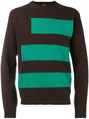 Piombo Mp Massimo Striped knit sweater