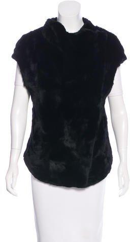Helmut LangHelmut Lang Asymmetrical Fur Vest