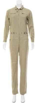 Etoile Isabel Marant Linen Straight-Leg Jumpsuit