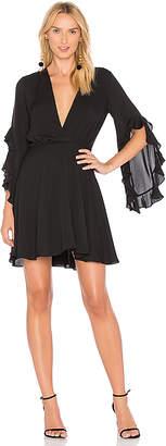 Amanda Uprichard Flutter Sleeve Dress