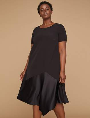 Lane Bryant Asymmetrical Hem Swing Dress