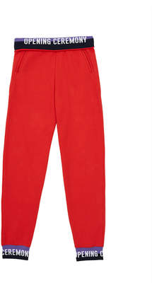 Opening Ceremony Fleece Back Terry Elastic Logo Fitted Sweatpant