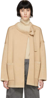 Chloé Brown Wool Compact Coat