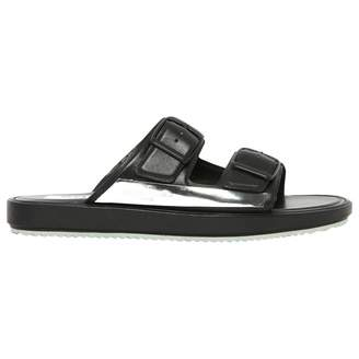 Golden Goose Black Leather Sandals