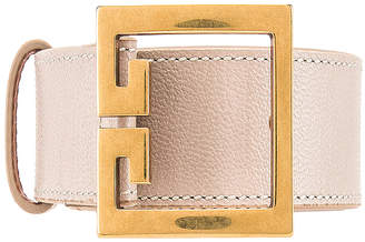Givenchy Logo Buckle Belt in Natural | FWRD