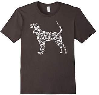 AND TAN COONHOUND Bones Skull Skeleton T-shirt