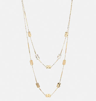 Avenue Rectangle Bar Hammered Necklace
