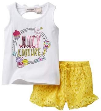 Juicy Couture Sweet Treats Tank & Lace Short Set (Little Girls)