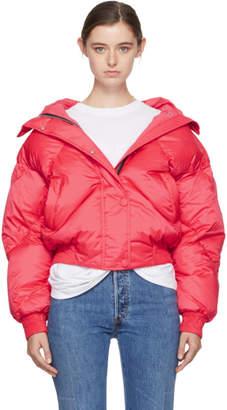 Dunlop Ienki Ienki Pink Down Short Hooded Jacket