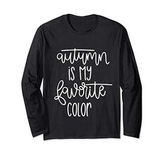 Autumn Is My Favorite Color Long Sleeve T-shirt For Women