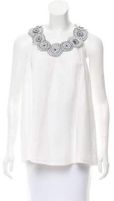 Neiman Marcus Linen Sleeveless Top