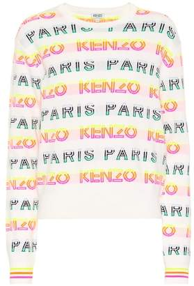 Kenzo Logo intarsia cotton-blend sweater