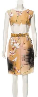Dolce & Gabbana Handpainted Silk Dress w/ Tags multicolor Handpainted Silk Dress w/ Tags