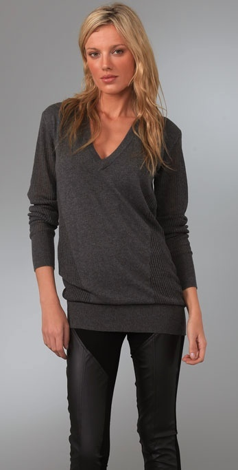 Factory By Erik Hart Oversized Sweater with Deep V Neck