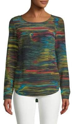 Akris Punto Multicolored Silk Top