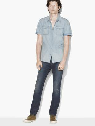 John Varvatos Short Sleeve Western Shirt