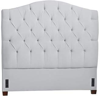 Pottery Barn Teen Eliza Tufted Headboard, Queen, Washed Linen Cotton, Gray