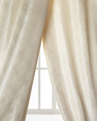 """Dian Austin Couture Home Polygon Curtain, Ivory, 96"""""""