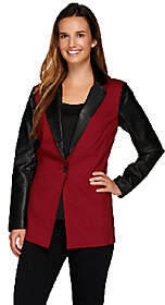 Linea by Louis Dell'Olio Color Block ButtonFront Blazer
