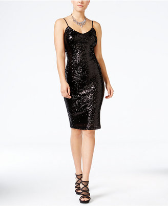 Crystal Doll Juniors' Sequined Bodycon Dress $69 thestylecure.com