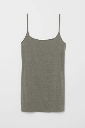 H&M H&M+ Long Jersey Camisole Top - Green