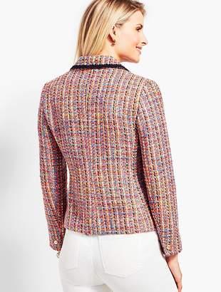 Talbots Tweed Contrast-Trim Jacket