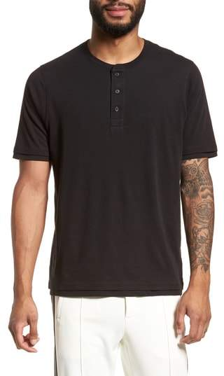 Layered Henley T-Shirt